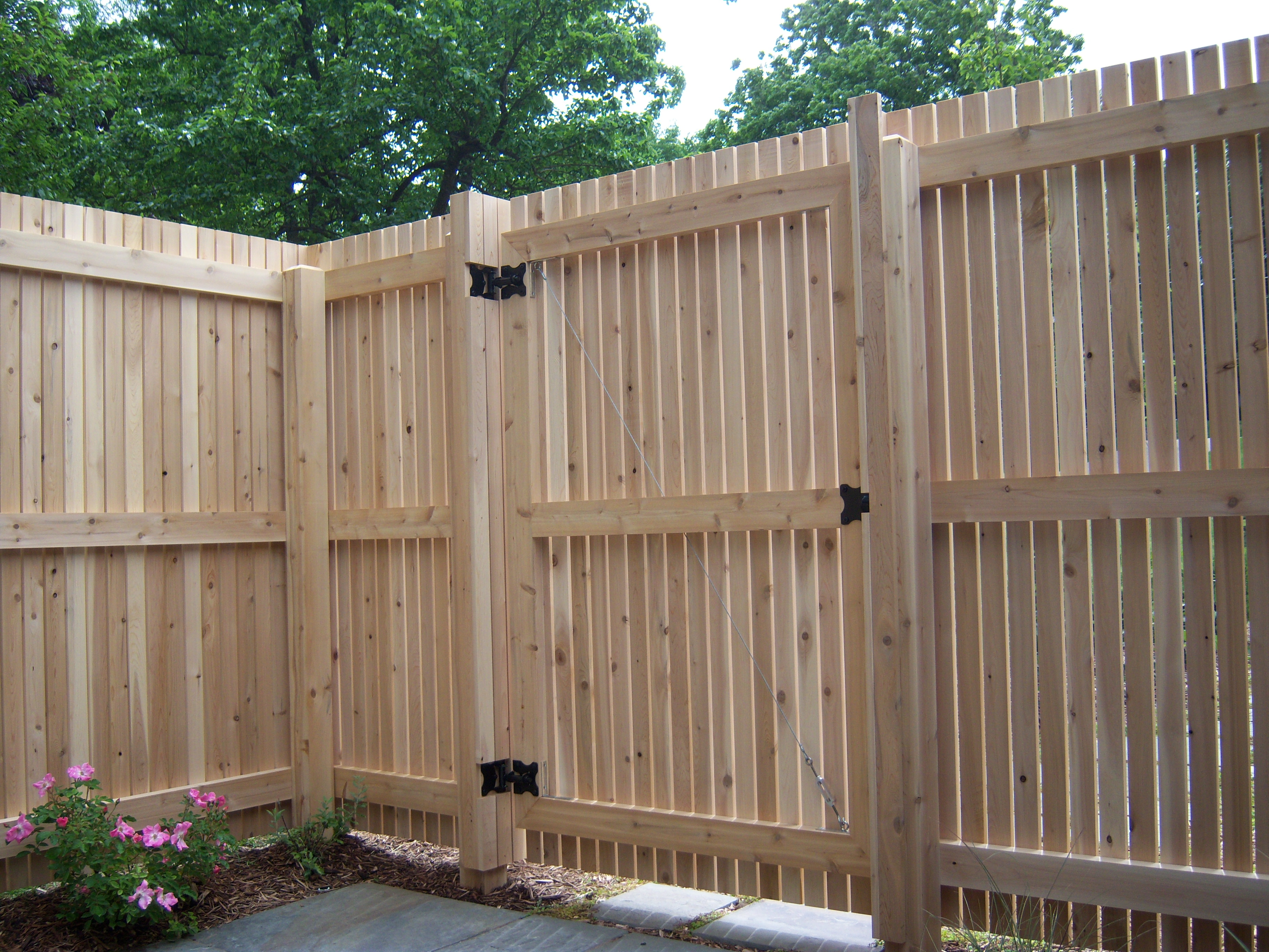 simply building fence gate privacy fencing