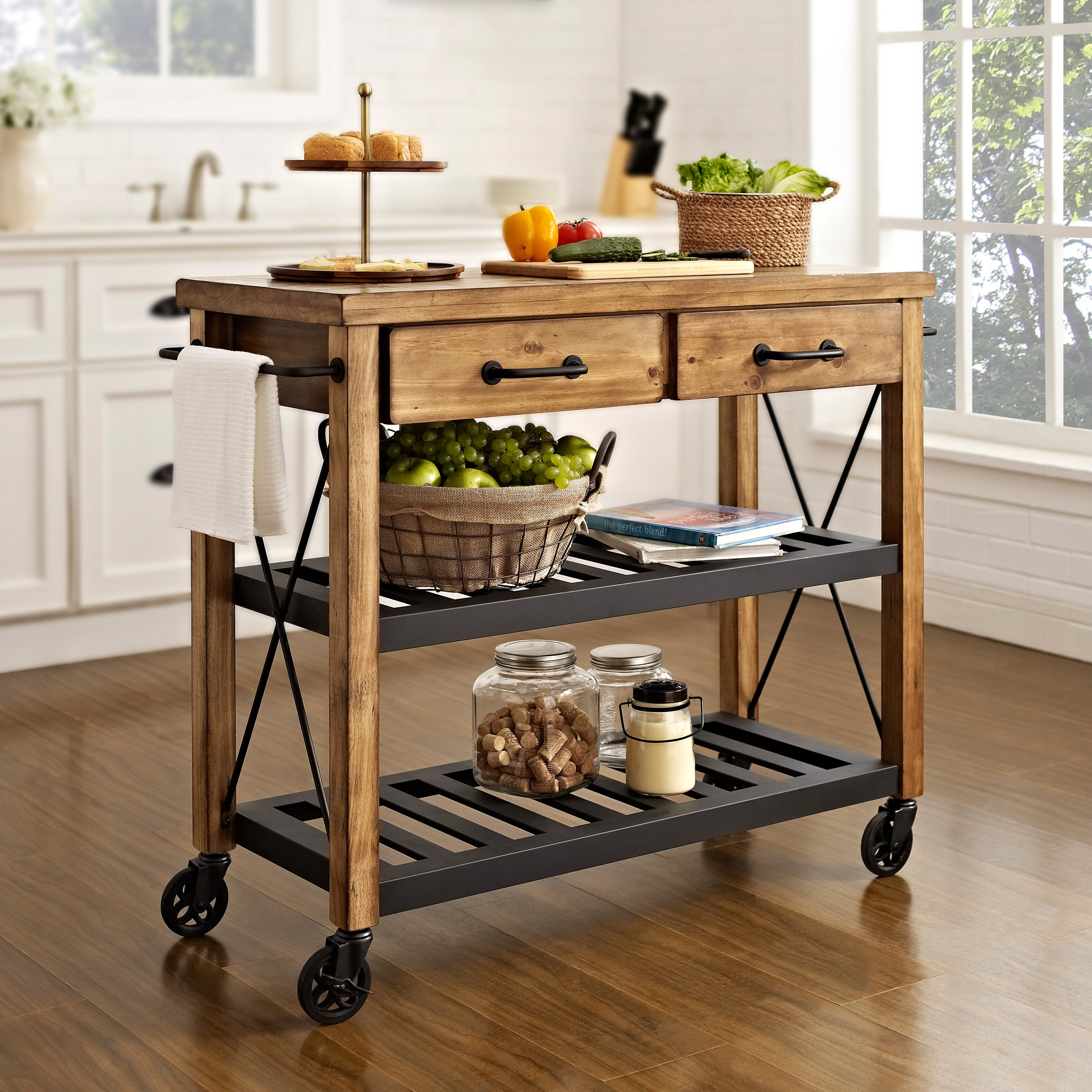 simply crosley roots rack industrial kitchen cart kitchen