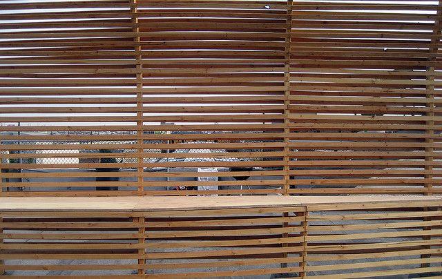 simply garden wood slat screen wallfacades wood
