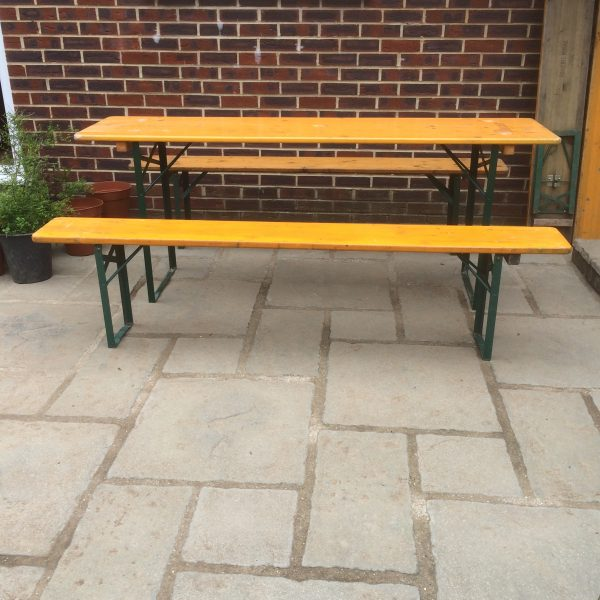 Simply German Pine Beer Garden Table And Bench Sets Vintage Medium