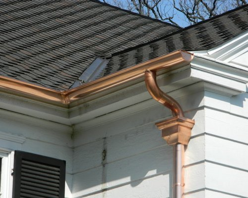 Simply Half Round Seamless Gutter Projectscopper And Aluminum Medium