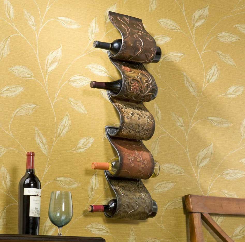 simply inspiring metal wine racks design ideashome interior