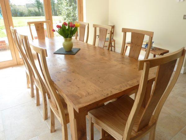 simply large pippy oak dining table and chairsquercus furniture medium