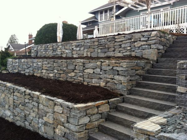 simply marthas gabion dry stack retaining wall contemporary medium