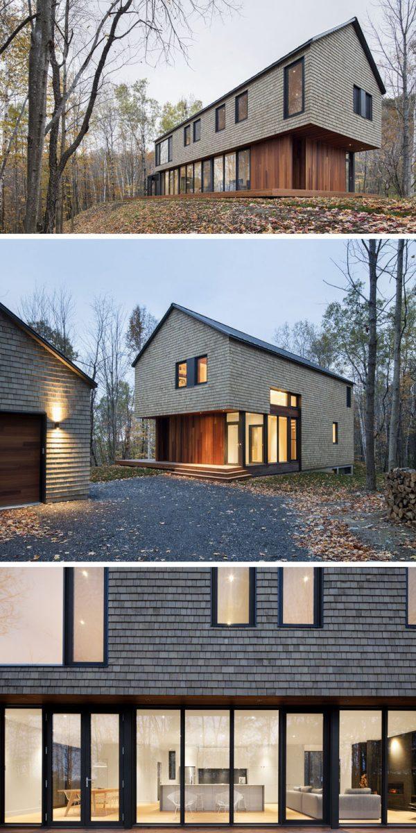 Simply Modern House Wood Siding Medium