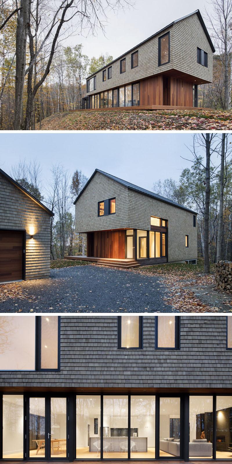 simply modern house wood siding