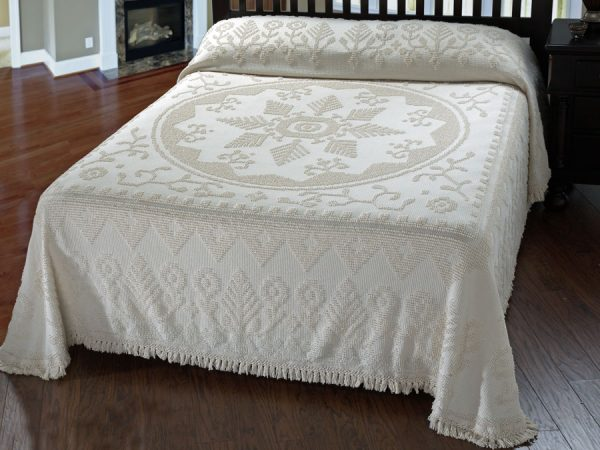 Simply New England Antique Chenille Bedspread The Trendy Bed Medium