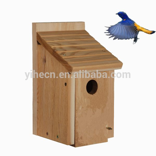 Simply New Unfinished Wooden Bird House Wholesale Wooden Bluebird Medium