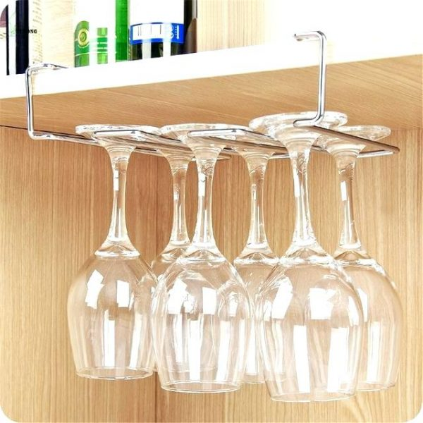 Simply Office Under Cabinet Wine Glass Rack Diy  Bobgames Medium