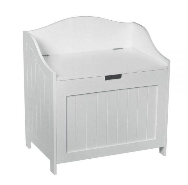 Simply Oslo Bathroom Wooden Storage Cabinet Laundry Bin Toy Box Medium