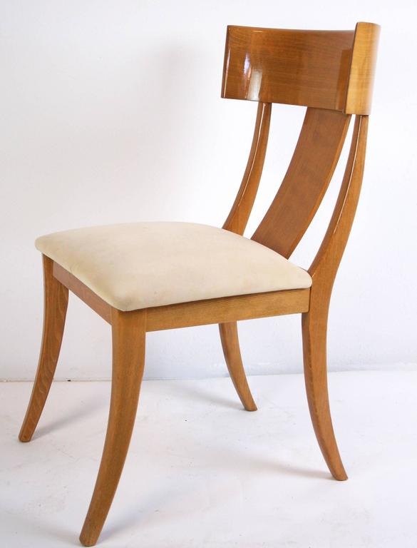 simply pair of modern klismos chairs by pietro constantini for