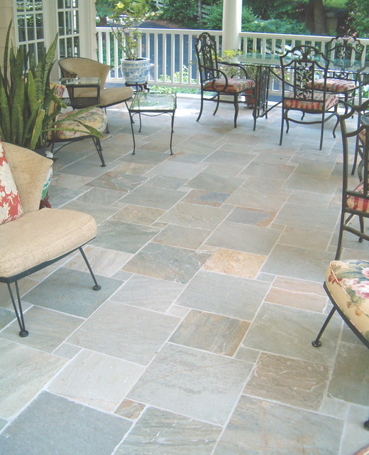 Simply Porch Floor Tile Traditional Patio Raleigh By Medium