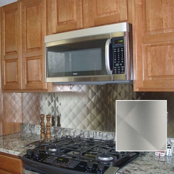 simply quilted stainless steel backsplash kitchen stove range medium