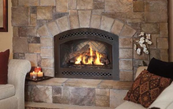 Simply Refacing Brick Fireplace With Stone Veneerhome Design Ideas Medium