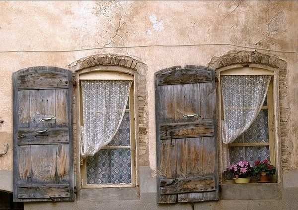 Simply Rustic Shutters  Historical Elegance And House Exterior Ideas Medium