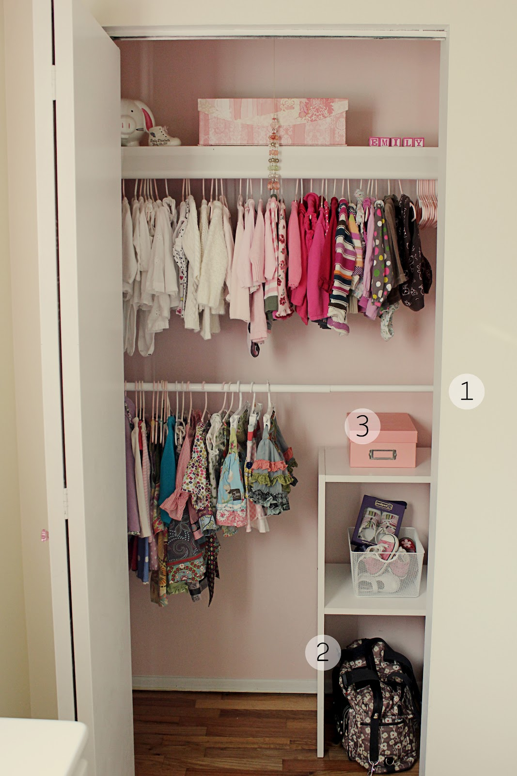 simply simple bedroom with small baby closet organization ideas