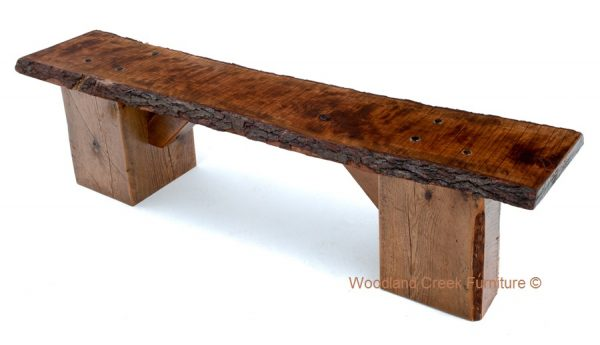 Simply Slab Bench Live Edge Bench Natural Wood Bench Barn Medium