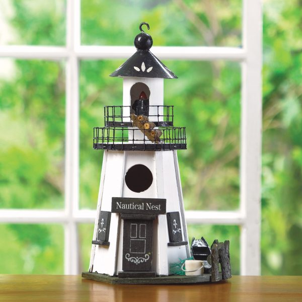 Simply Wholesale Wood Lighthouse Birdhouse Buy Wholesale Birdhouses Medium