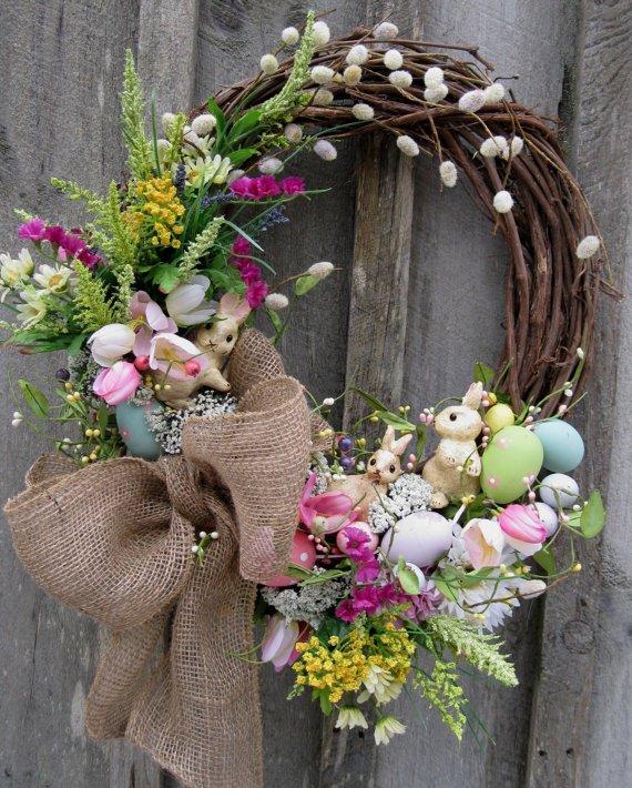 Style 15 Diy Wreath Ideas For Easter Pretty Designs Medium