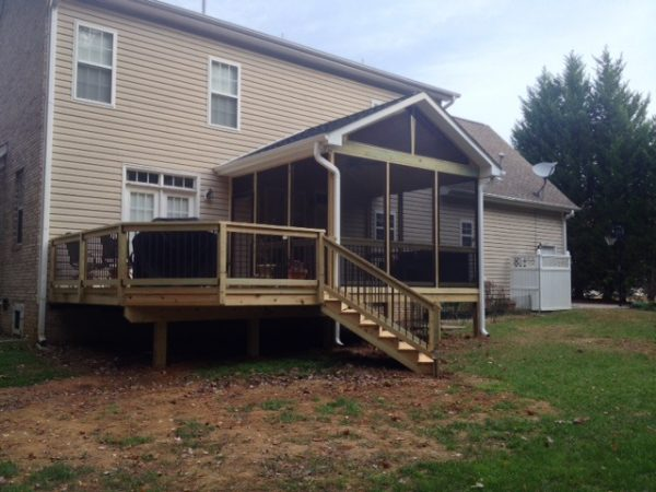 Style A Deck And Screened Porch Combination In Summerfield That Medium
