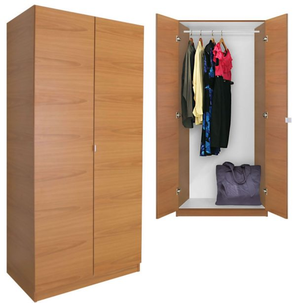 Style Alta Wardrobe Closet Free Standing Wardrobe With Doors Medium