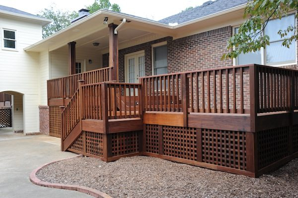 Style Brazilian Hardwood Deck With Custom Lattice Lightingblog Medium