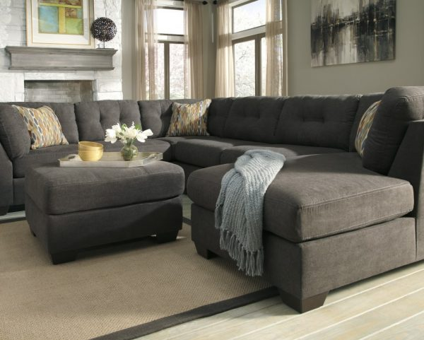 Style Collection Gus Modern Jane Loft Bi Sectional Sofa Medium