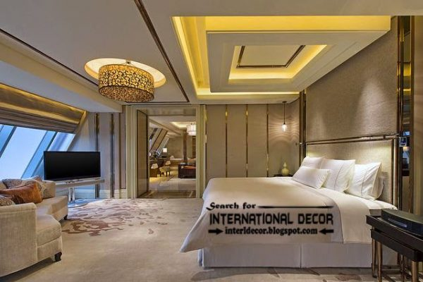 Style Contemporary Pop False Ceiling Designs For Bedroom 2017 Medium