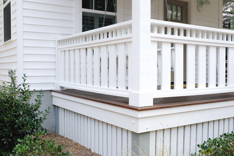 style diy custom porch deck rail cottage designsimply living nc