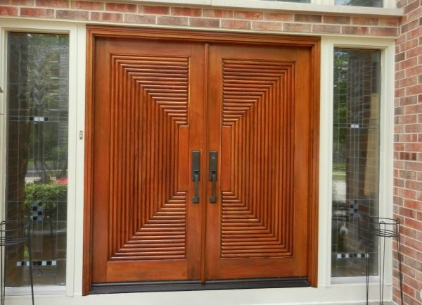 Style Double Front Doors For Homes With Interesting And Medium