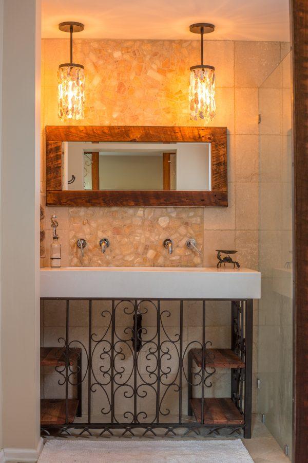 Style Elegant Chandelier In Front Of Bathroom Mirror Dkbzawebcom Medium