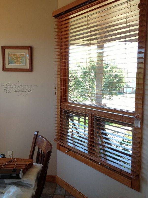 Style Exterior Mounting Bali Wood Blinds Was Our Solution To Our Medium