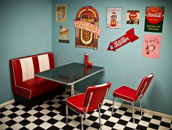 Style I Love The 50s Diner Lookretrokitchen Diner Decor Medium