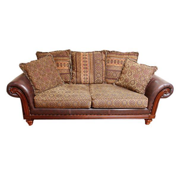 Style Leather Sofa And Throw Pillowsebth Medium