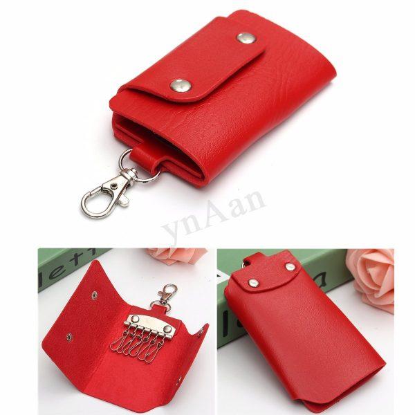 Style Men Women Leather Keyring Key Holder Keychain Hook Case Medium