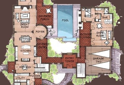 Style Mexican Hacienda Floor Plans Hacienda Spanish Style Home Medium