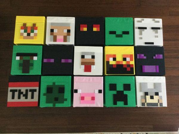 Style Minecraft Storage Bins You Pick Your Set Of Six Kids Medium