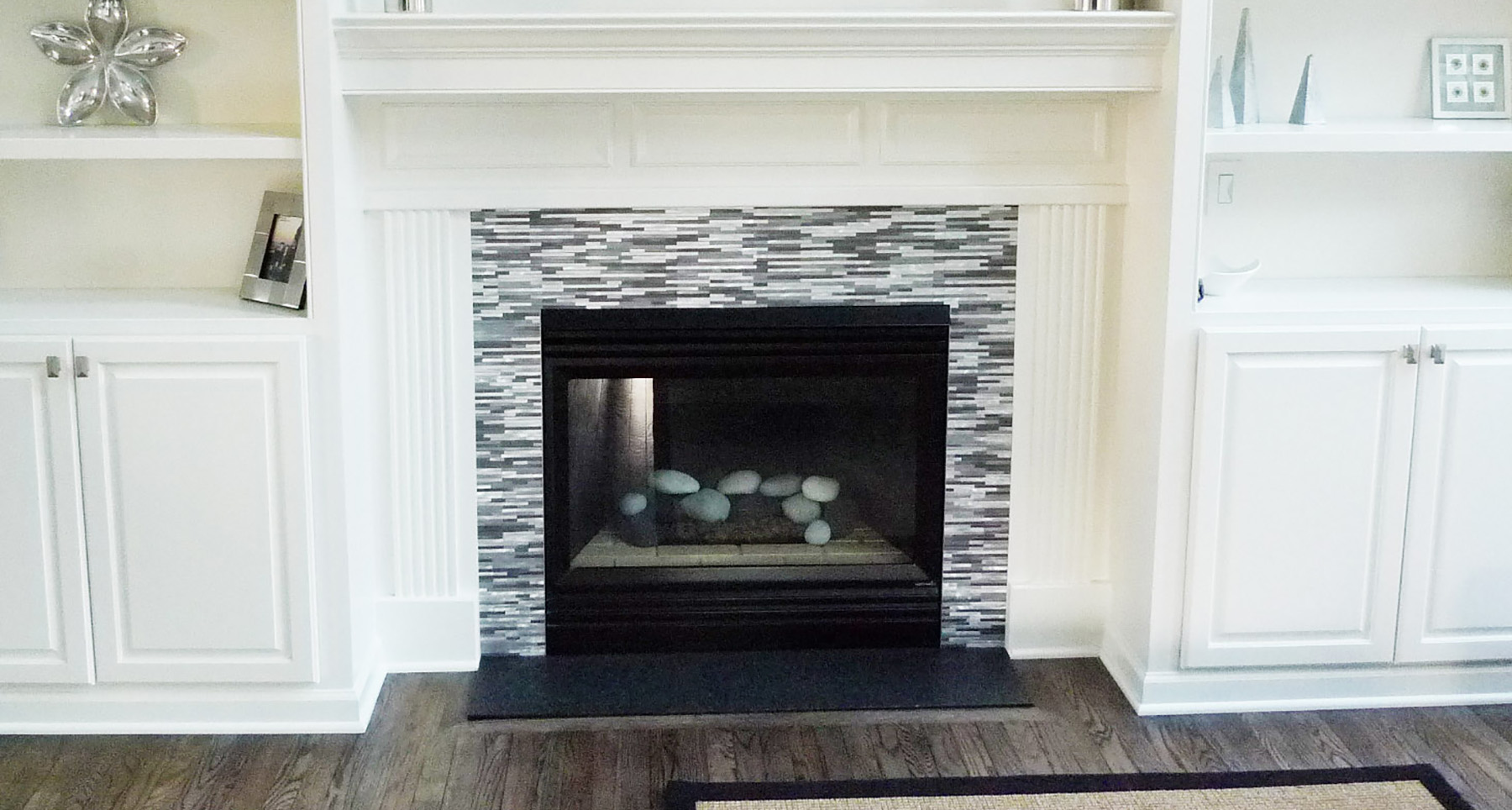 style mosaic tile fireplace surround glass mosaic tile fireplace