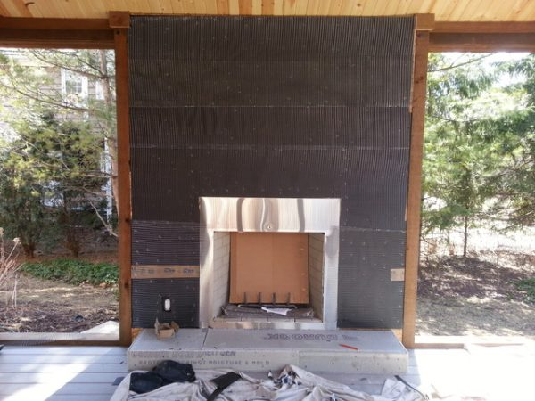 Style Natural Stone Veneer Fireplace Reface Modern Chicago Medium