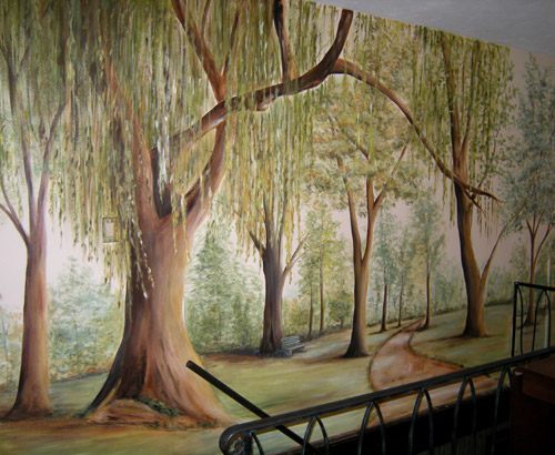 Style Painted Tree Muralmuralist Debbie Ceronewall Murals Medium