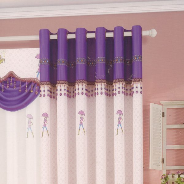 Style Pink Purple For Girls Room Best Living Room Curtains Medium