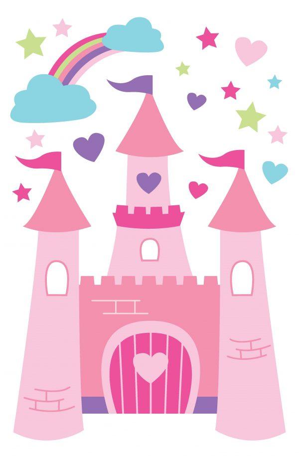 Style Princess Castle Wallpaper Wallpapersafari Medium