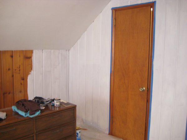 Style Remodelaholicpainting Over Knotty Pine Paneling