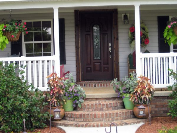 Style Small Front Porch Decorating Ideas For Winter Medium