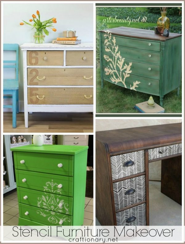 Style Stenciling Furniture Diy Furniture Designs Medium