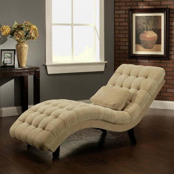 Style Upholstered Chaise Lounges For Bedrooms Medium