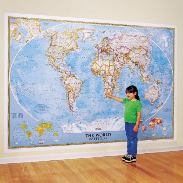 Style World Classic Wall Map Mural National Geographic Store Medium