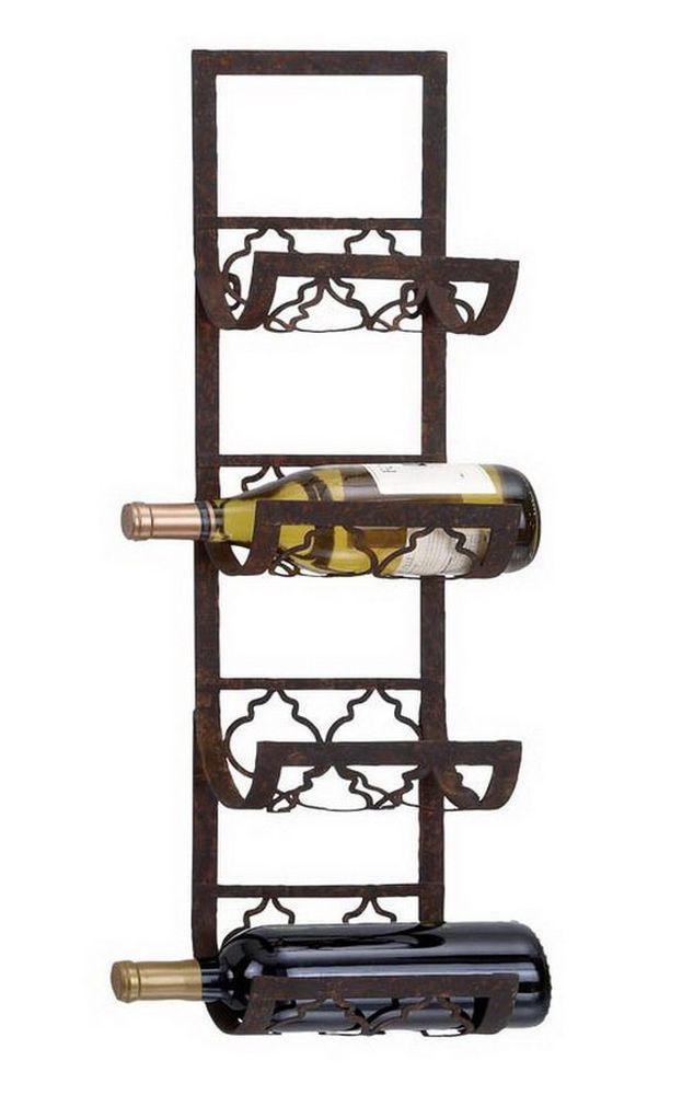 tips 4bottle wallmount wine rack storage holder metal kitchen