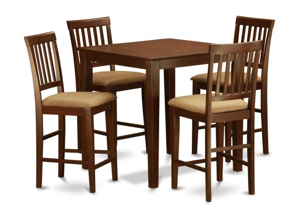 Tips 5 Piece Counter Height Dining Setpub Table And 4 Dinette Medium