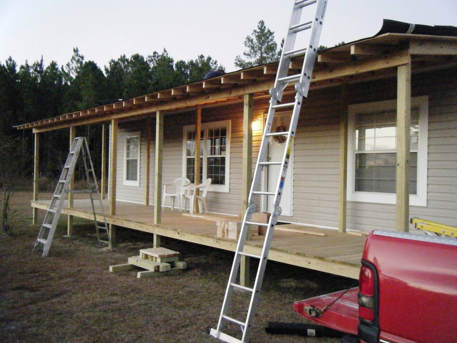 tips adding a covered porch to a mobile home